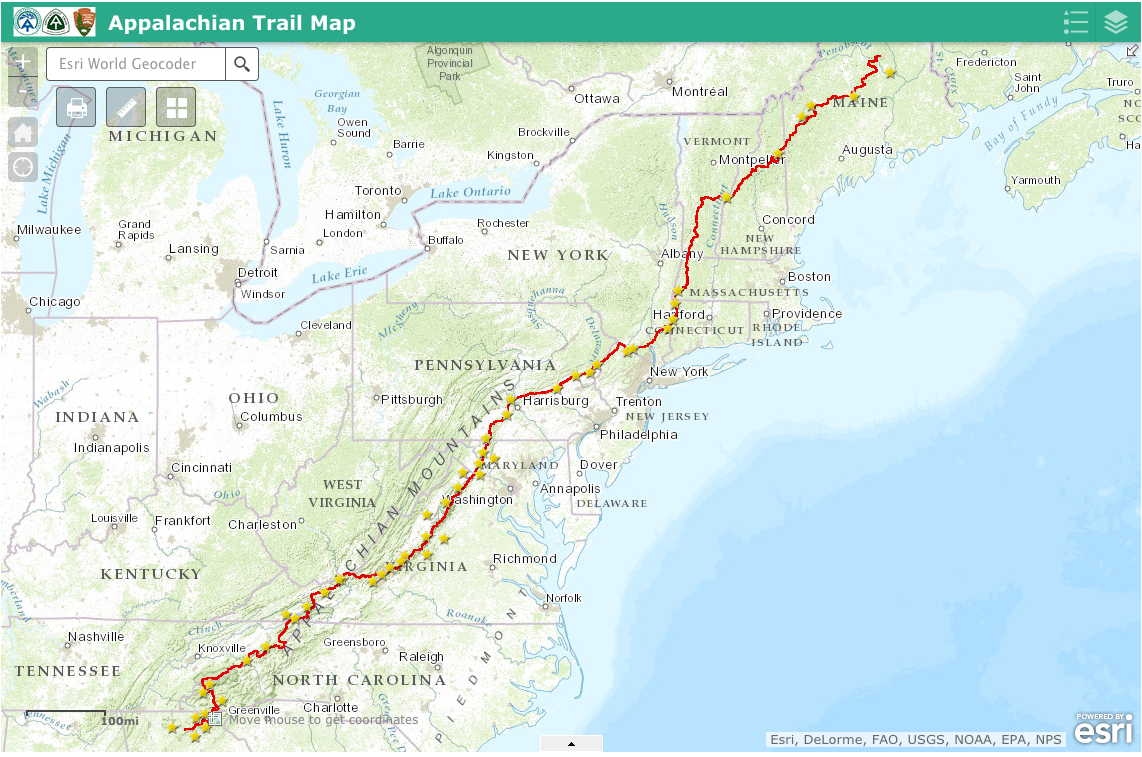 The rest of the appalachian trail for guthook's guides | guthook.